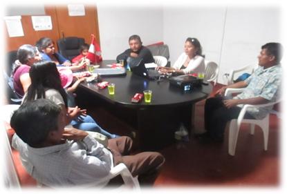 Jornada de reflexión y planteamiento de acciones a favor del desarrollo del distrito de Santa Cruz - Palpa