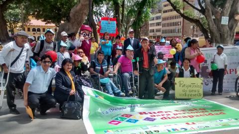 """""""Marcha de sensibilización por el Día Internacional de las personas con discapacidad y Buen trato"""""""
