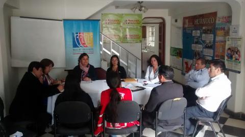 Primera reunión de Temática del Adulto Mayor de la MCLCP Huánuco.
