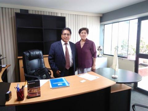 Visita al presidente del Consejo Regional de Lima