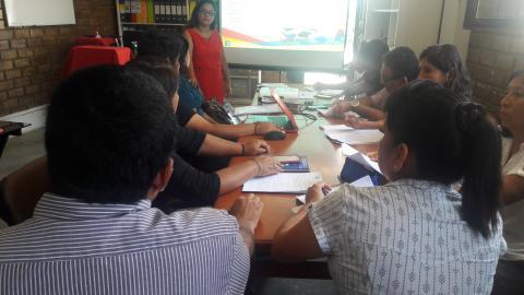 Capacitación de la Campaña del Buen Inicio del Año Escolar 2017 a especialista de la Dirección Regional de Educación Lima Provincias