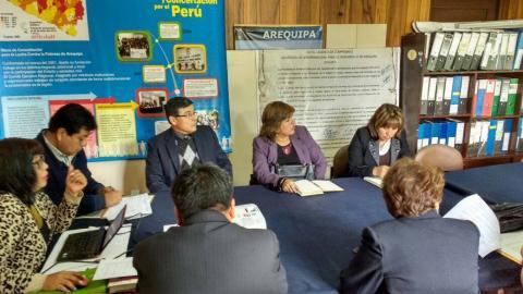Plan regional de prevención y tratamiento del consumo de drogas en Arequipa