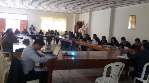 Elaboración del plan operativo 2017 de la Mclcp de Amazonas