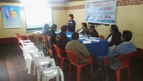 Reunion del CED de la Mclcp de Leymebamba para capacitar sobre la veeduría del Biae