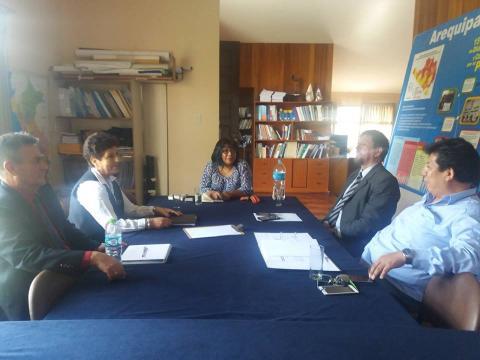 Reunión de trabajo con INEI, Qali Warma y Pensión 65