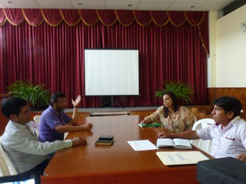 Sesión de aperura de Mesa Provincial de Jorge Basadre