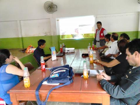 Mesa temática sobre el impacto del fenómeno del niño costero en la Provincia de Contralmirante Villar
