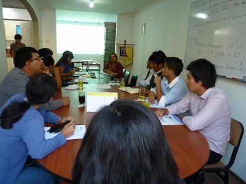 Sesión ordinaria del CER de la Mesa de Concertación y conformación de comisiones de trabajo