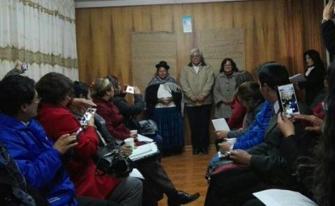 MCLCP regional de Puno elige a coordinadora