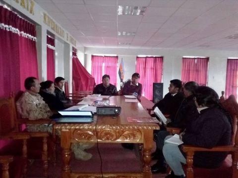 MCLCP provincial de  Huancane, región Puno, realizará la campaña de prevención por heladas y friaje por las bajas temperaturas