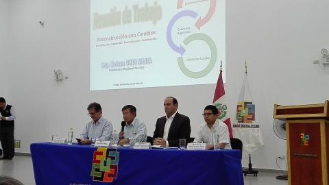 Reunión de Trabajo para la reconstrucción con cambios en la Región Lima