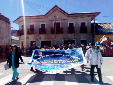 """MCLCP provincial de Huancané de la región Puno participó en la campaña """"Protege a tus hijos de las infecciones respiratorias"""""""