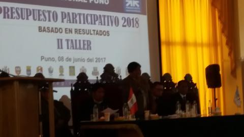 Gobierno Regional de Puno presenta proyectos priorizados con el nuevo sistema INVIERTE.PE