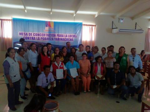 Taller fortalecimiento de la Mesa de Concertación para la Lucha Contra la Pobreza de Yarinacocha.