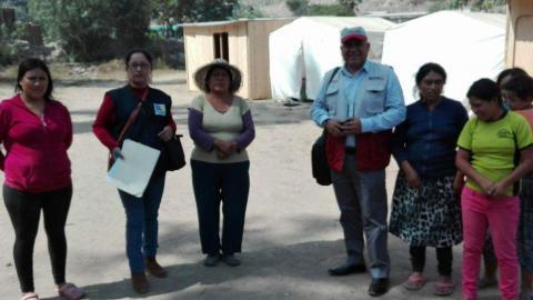 MCLCLP visita a afectados por el Niño Costero en albergue de Yangas, provincia de Canta