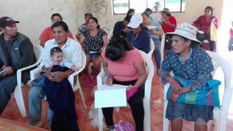 Damnificados y afectados de Yangas participaron del taller consulta ciudadana en Santa Rosa de Quives