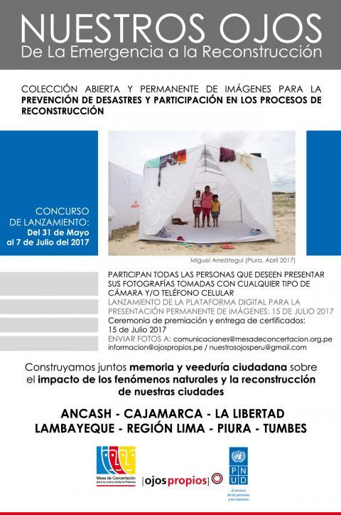 """Concurso """"Nuestros Ojos de la Emergencia a la Reconstrucción"""": Envía tus fotografías hasta el 7 de julio"""