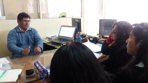 Reunión con Secretario Técnico de Defensa Civil de la Municipalidad Provincial de Puno