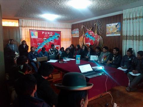 CER  de la MCLCP regional de Puno, aprobó  reporte sobre muertes maternas 2014-2017