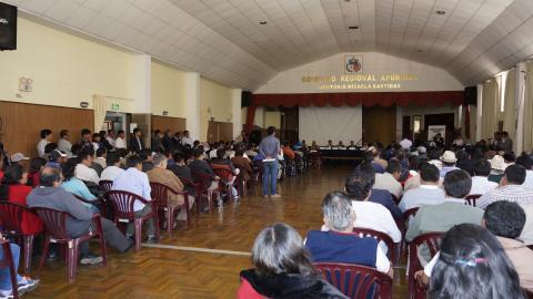 MCLCP Apurímac propone audiencia pública al GORE , para informar sobre endeudamiento interno para financiar proyectos Regionales