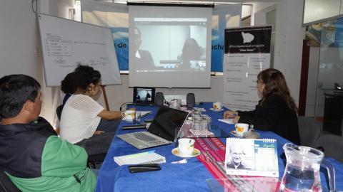 Se desarrolló reunión por vídeo conferencia entre Comisión del PRIGA y especialistas del Ministerio de la Mujer en la MCLCP Apurímac