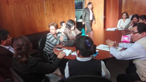 """Reunión de coordinación para llevar a cabo la campaña """"Día de la Desparasitación"""", familias sin parásitos, familias saludables"""