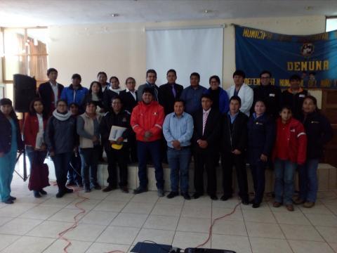 Mesa de Concertacion para la Lucha Contra la Pobreza del distrito de Acoria, suscribió el Pacto Distrital para reducir la Anemia y Desnutrición Crónica Infantil