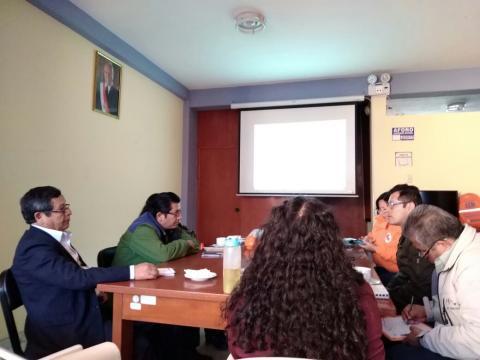 Reunión para Elaboración de Plan de Contingencias para Respuesta ante incendios Forestales en la Región Apurímac