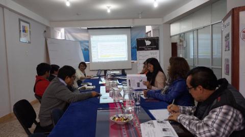 Grupo de Seguimiento Concertado en Gestión de Riesgos de Desastres socializa reporte y analiza Alertas y Recomendaciones para su validación.