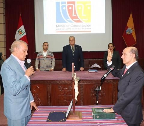 Juramentó nuevo coordinador regional de la MCLCP-Lambayeque