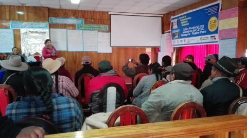 MCLCP fortalece capacidades de miembros del Comité de Transparencia y Vigilancia Ciudadana en Azángaro