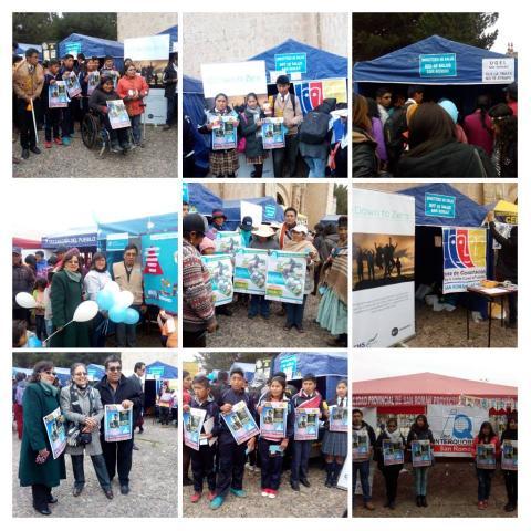 MCLCP participa en la I Feria Informativa de Trata de personas en la Provincia de San Román