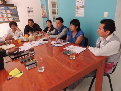 Reunión de trabajo con Defensoría del Pueblo y oficina regional MINAM