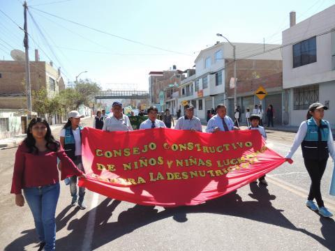 Movilización contra la anemia  y desnutrición