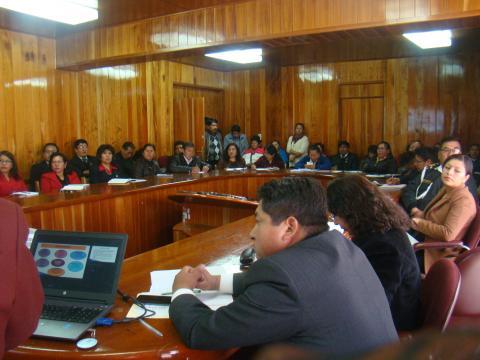 MCLCP regional de Puno, realiza la presentación pública de los reportes de seguimiento concertado en anemia, muertes maternas, embarazo en adolescentes y calidad de agua