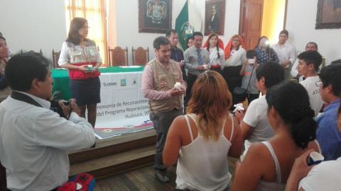 Ceremonia de reconocimiento a beneficiarios del Programa de Reparaciones en Educación - PRED.