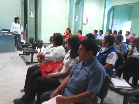 Jornada Informativa sobre desnutrición crónica, anemia, embarazo en adolescentes y logros de aprendizajes