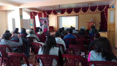 Equipo técnico participa en Jornada de Asistencia Técnica a actores sociales para realizar la vigilancia social