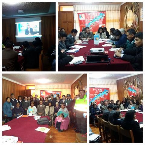 MCLCP regional de Puno, instala Comité Ejecutivo Regional en su XVII aniversario