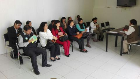 Reunión de trabajo de promoción de cultura de Paz.