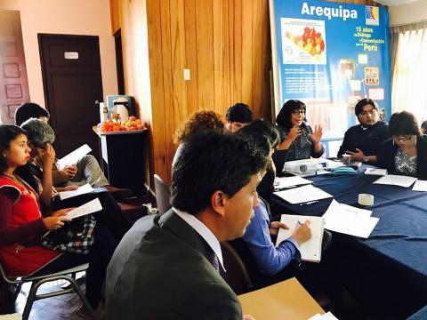 Sesión ordinaria del CER de la Mesa de Concertación de Arequipa