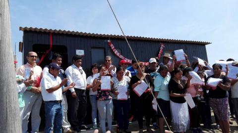 MCLCP-Lambayeque participó en ceremonia de entrega de módulos a familias damnificadas por Niño Costero que realizó Cruz Roja