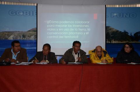 En reunión ordinaria  la Comisión Ambiental Regional exponen sobre escenarios viales e impactos de las cuencas altas de los Ríos Tambopata e Inambari