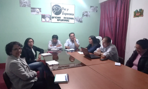 El 5 de marzo se realizará la instalación del Comité Ejecutivo Provincial en Andahuaylas, la UNAJMA, Paz Esperanza y COREJU apoyaran en la Convocatoria.