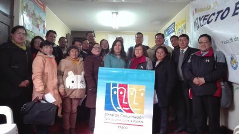 II Reunión del CER de la MCLCP Pasco - 2018