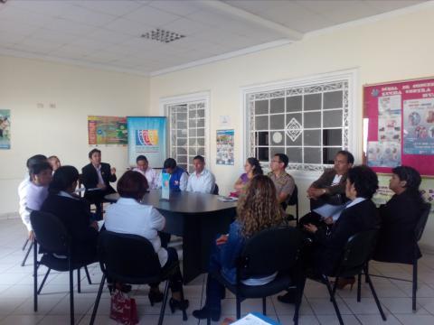 Primera reunión de trabajo de Temática de Personas con Discapacidad de la MCLCP Huánuco.