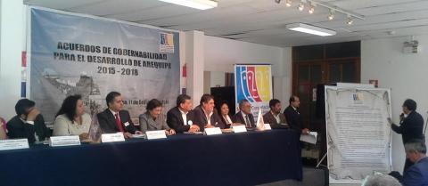 ACUERDOS DE GOBERNABILIDAD REGIONAL AREQUIPA 2019-2022: COMPROMISO PÚBLICO DE CANDIDATOS A GOBERNADOR