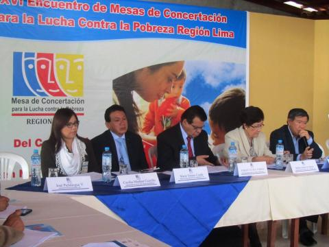 Gobernador Nelson Chui inauguró el Encuentro de Mesas de la Región Lima