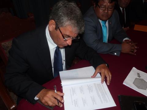 Ratificarán Pacto Político por la Gobernabilidad de la Región Piura