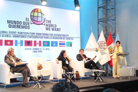 La experiencia de la MCLCP fue presentada en evento global Monitoreo Participativo para la Rendición de Cuentas